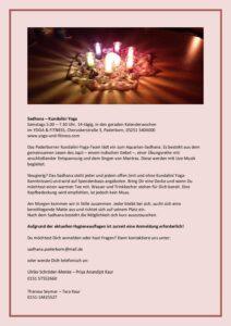 """""""Aquarian Sadhana (Kundalini)"""" mit dem Kundalini-Team PB (fortlaufend, Samstags 14tägig 5:00-7:30) @ YOGA & FITNESS Paderborn"""