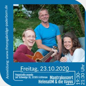 """""""Mantrakonzert"""" mit HelenaOM und den Vayus (Fr., 23.10.2020, 19:30-21:30 Uhr) @ ananda Lichtenau"""