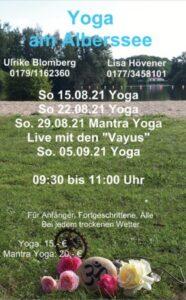 """""""Yoga am Alberssee"""" mit Lisa, Ulrike und den Vayus (So., 15.08./22.08./29.08.2020, 09:30-11:00) @ Alberssee Lippstadt"""