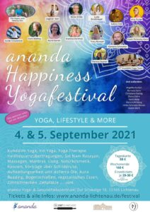 ananda Happiness-Yogafestival (4.-5.09.2021) @ ananda Lichtenau