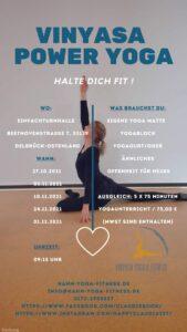 """Vinyasa Power Yoga"" mit Claudia (5x Mittwochs ab 27.10.2021, 09:15-10:45 Uhr) @ Einfachturnahlle Delbrück-Ostenland"