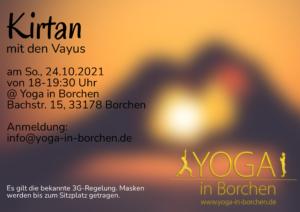 Kirtan mit den Vayus (am So., 24.10.2024, 18-19:30 Uhr) @ Yoga in Borchen
